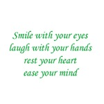 Smile with your eyes