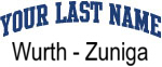 Blue Surname Design Wurth - Zuniga