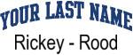 Blue Surname Design Rickey - Rood