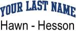 Blue Surname Design Hawn - Hesson