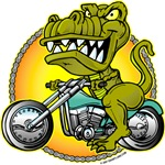T-Rex on Motorcycle