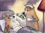 Corgi Nightingale nurse dog