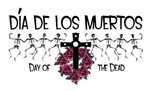 Dia de los Muertos-Day of the dead-Dancing Skeleto