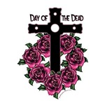 Dia de los Muertos-Day of the dead-Cross and roses