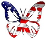 Butterfly-US Flag