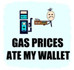 GAS PRICES ATE MY WALLET