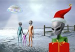 Alien Family Holiday by Marc Brinkerhoff