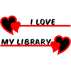 I Love My Library - Red & Black