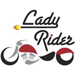 Lady Rider Red Bike