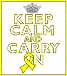 Osteosarcoma Keep Calm Carry On Shirts