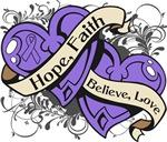 Hodgkins Lymphoma Hope Faith Dual Hearts Shirts