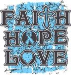 Prostate Cancer Faith Hope Love Shirts