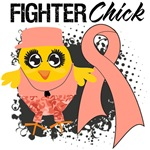 Uterine Cancer Fighter Chick Shirts
