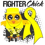 Ewings Sarcoma Fighter Chick Shirts