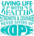 Peritoneal Cancer Living Life With Faith Shirts