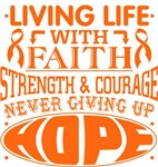 Kidney Cancer Living Life With Faith Shirts