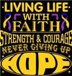 Bladder Cancer Living Life With Faith Shirts