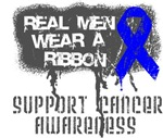 Rectal Cancer Real Men Wear a Ribbon Shirts
