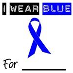 I Wear Blue Colon Cancer Ribbon Shirts