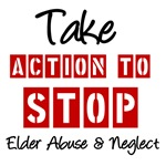 Take Action to Stop Elder Abuse T-Shirts & Gift