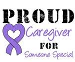 Proud Caregiver Purple Ribbon T-Shirts & Gifts