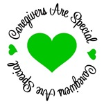 Caregivers Are Special Green Ribbon T-Shirts