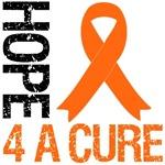Hope 4 A Cure Orange Ribbon Shirts & Gifts