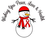 Christmas Snowman Red Ribbon Cards & Gifts