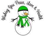 Christmas Snowman Green Ribbon Cards & Gifts