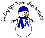 Christmas Snowman Colon Cancer Cards & Gifts