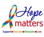 Hope Matters Autism Awareness Shirts & Gifts