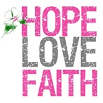 Hope Love Faith Pink Ribbon X-Mas Cards (6)