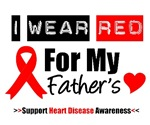 I Wear Red Father Heart Disease Shirts & Gifts