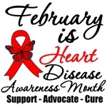 February is Heart Disease Awareness Month T Shirts