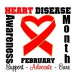 Heart Disease Ribbon Awareness Month Shirts