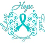 Ovarian Cancer Butterfly Deco Ribbon Gifts