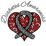 Diabetes Awareness Mosiac Ribbon Shirts & Gifts