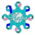 Thyroid Cancer Hope Ribbons