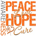 Leukemia Peace Love Hope Shirts