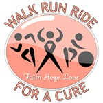 Uterine Cancer Walk Run Ride Shirts
