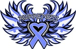 Stomach Cancer Heart Wings Shirts