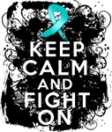 Peritoneal Cancer Keep Calm and Fight On Shirts