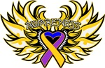 Bladder Cancer Heart Wings Shirts