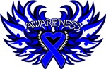 Colon Cancer Heart Wings Shirts