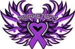 GIST Cancer Heart Awareness Wings