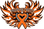 Leukemia Heart Awareness Wings Shirts