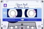 Cassette Tapes - blue