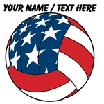 Custom Stars And Stripes Volleyball