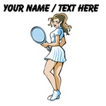Custom Female Tennis Player