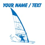 Custom Blue Windsurfer